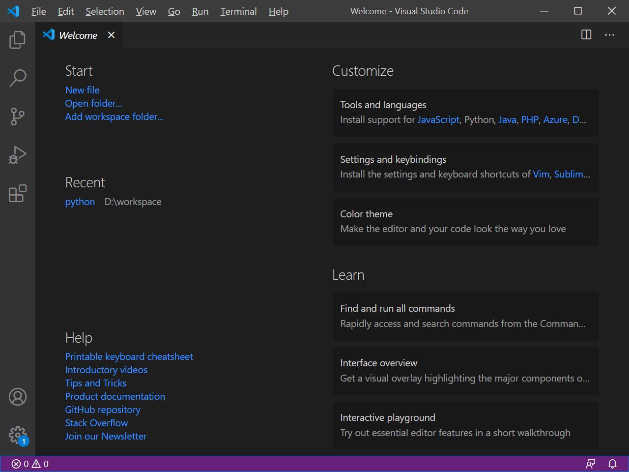 Cypress Tutorial Step 1 - Open Visual Studio Code