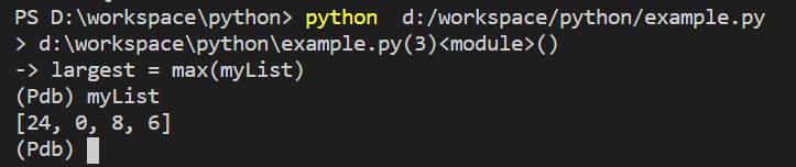 Python breakpoint - Python debugger