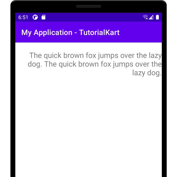 Kotlin Android - Right Align text in TextView