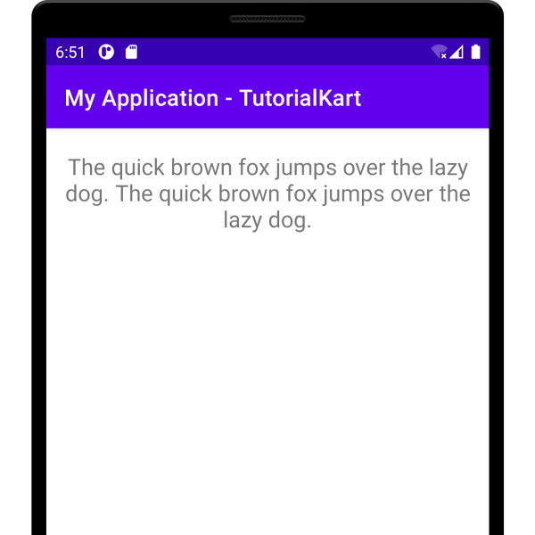 Center Align text in TextView in Kotlin Android