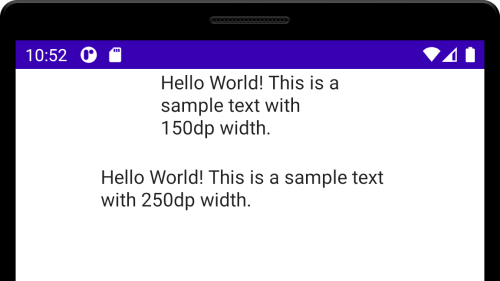 Android Compose - Set Width for Text composable