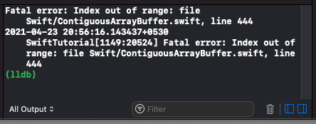 Swift - Access Elements of Array using Index - Index < 0